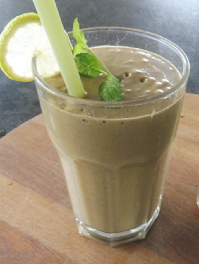 mint banana avocado smoothie
