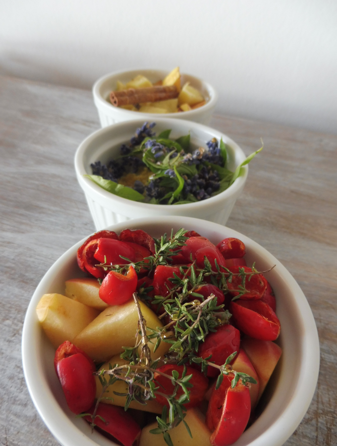 roasted herbal fruit teas with lavender, quince and rose hips