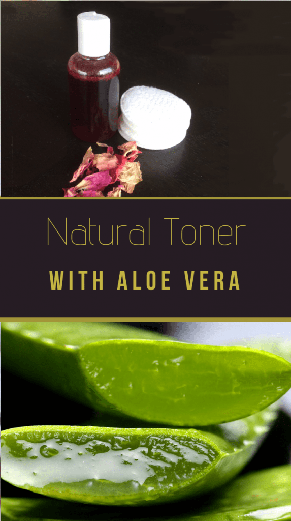 Natural toner with aloe vera