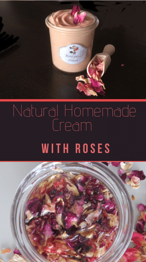rose cream made of rose infused oil