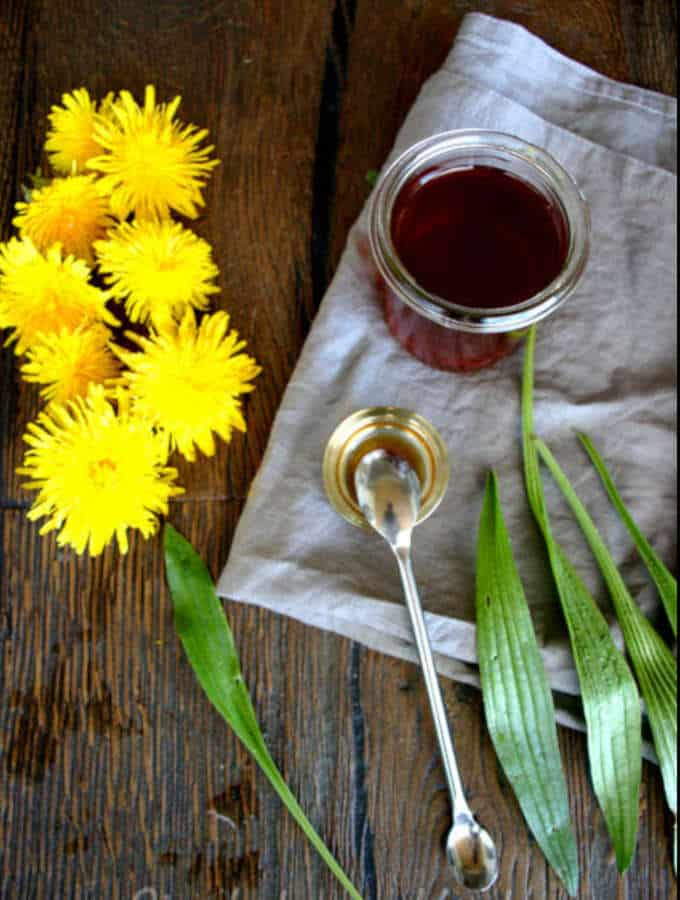 herbal cough syrup with plantain and dandelion