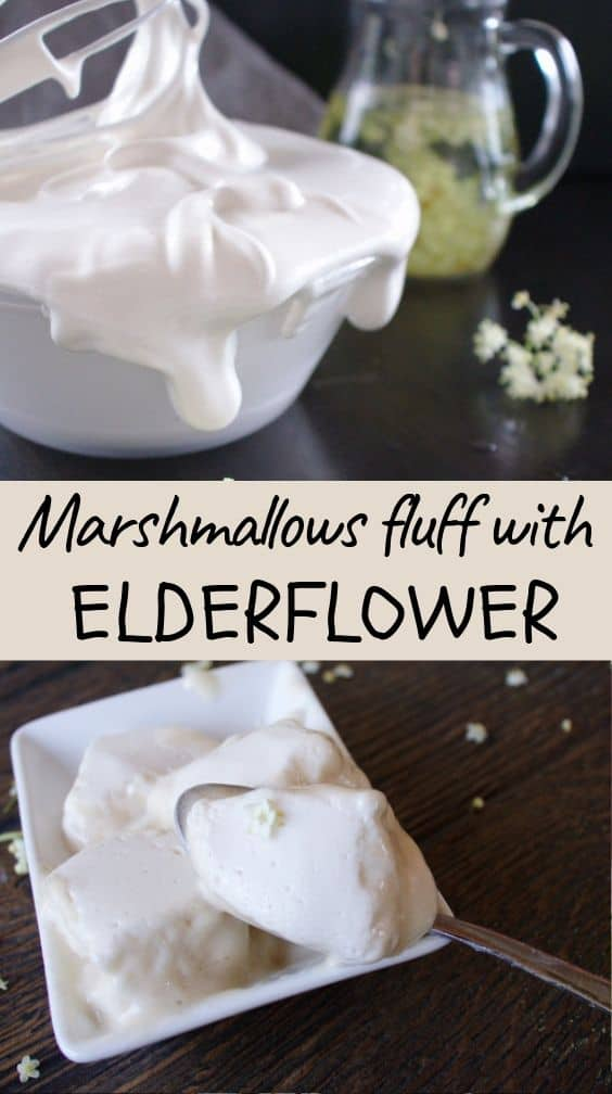 Marshmallow fluff with Elderflowers