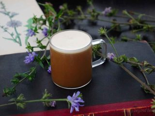 Chicory coffee from scratch