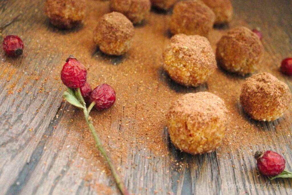 Gluten free rosehip balls recipe