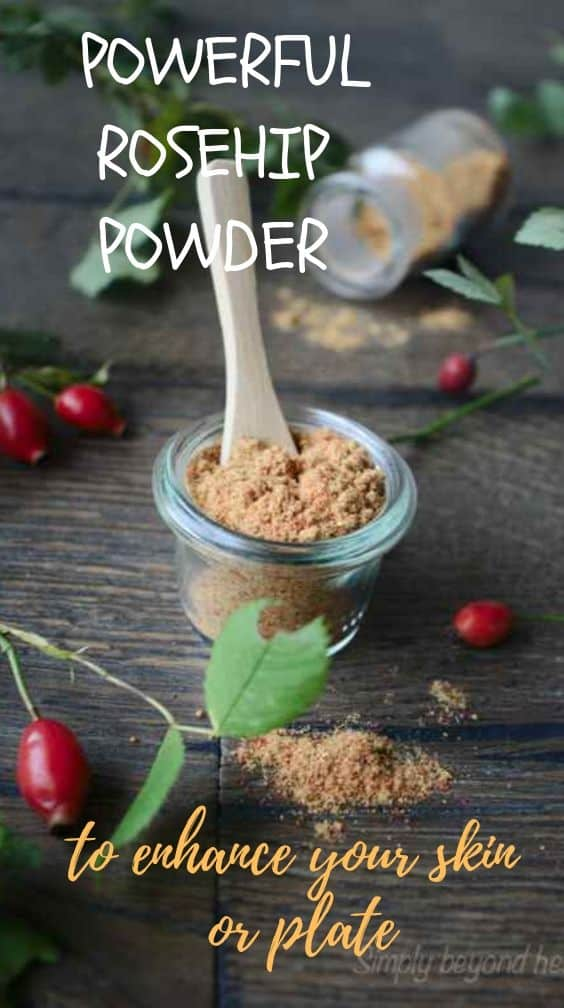 ROSEHIP POWDER for your skin and plate