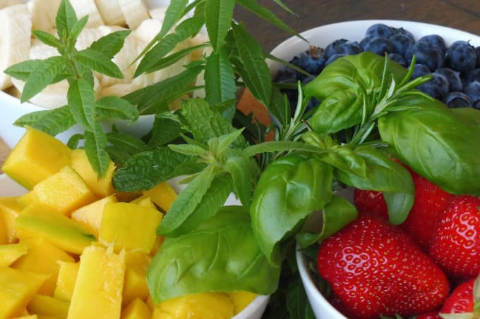 Fruits and herbs sorbets