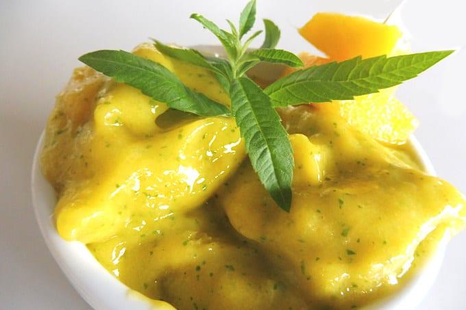 mango and verbena sorbet