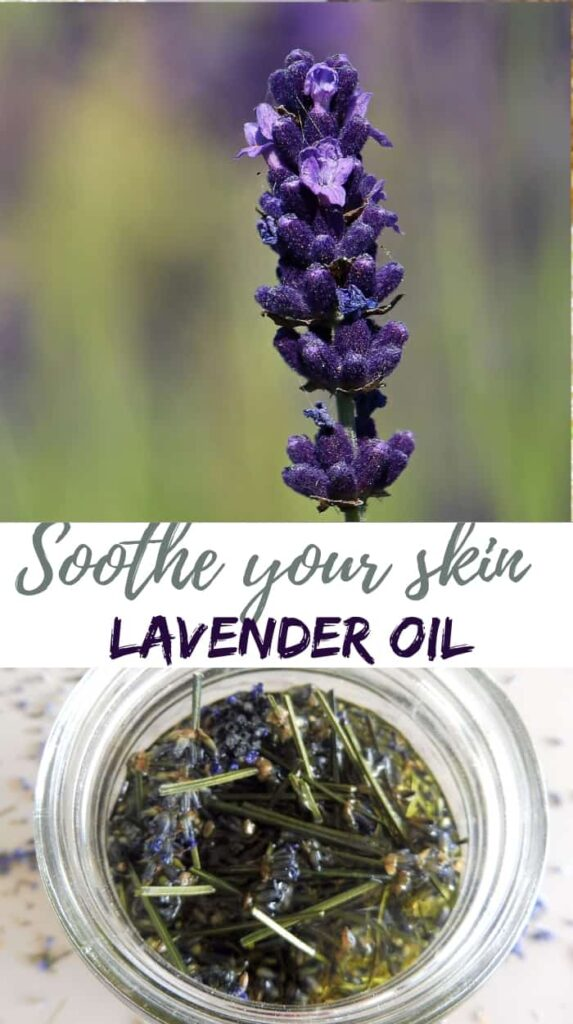 Lavender oil to sooth your skin