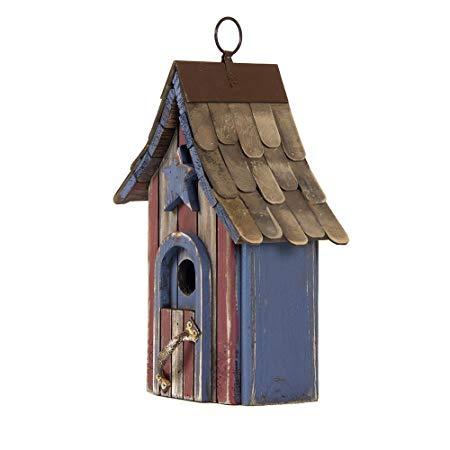 Hand Painted Wood Birdhouse