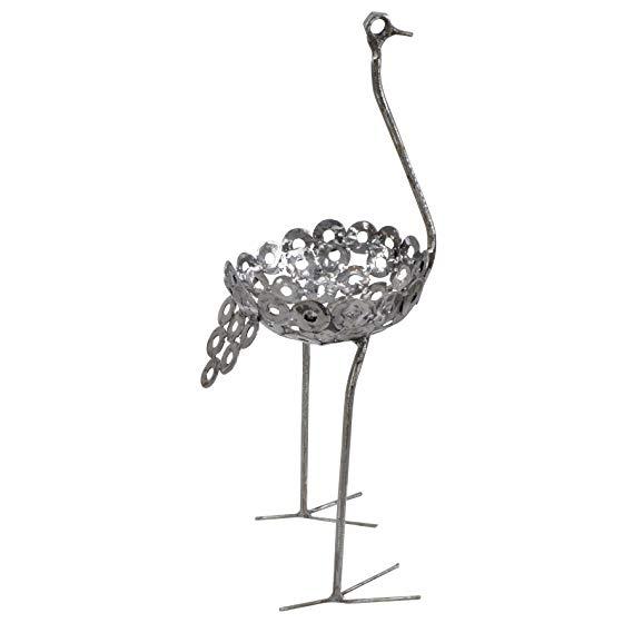 Ostrich Plant Holder Statue