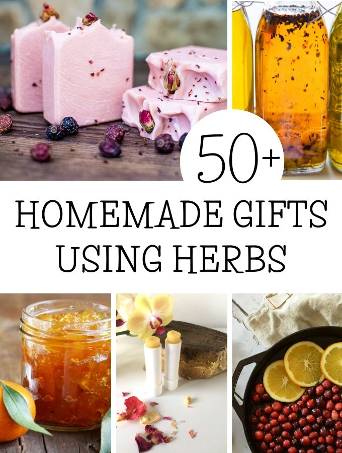 selection of more than 50 best gifts made of herbs