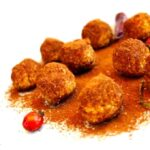 Vegan gluten free balls with rosehips
