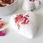 bath bombs with rose petals