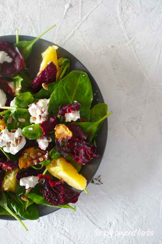 how to make roasted beet salad