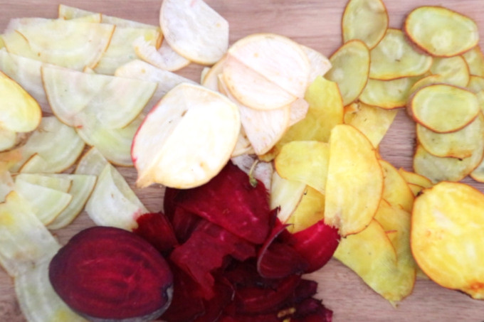 colorful slices of beets
