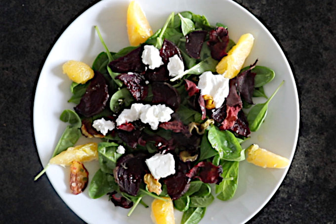 colorful and nutritious beet salad