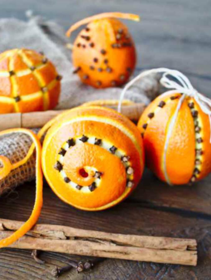 how to use orange pomanders